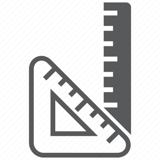 draw, education, equipment, measure, measurement, ruler, tool icon