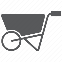 barrow, build, cart, construction, equipment, tool, wheelbarrow icon
