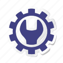 agriculture, construction, setting, spanner, tool, tools, working icon