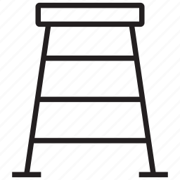 construct, equipment, ladder, repair, stairs, step, tool icon