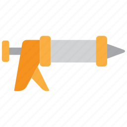 caulk, caulk gun, caulking, caulking gun, equipment, gun, tools icon