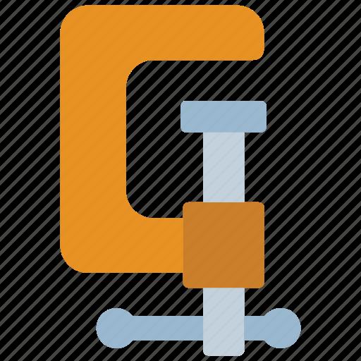 build, clamp, construction, equipment, fix, repair, tools icon