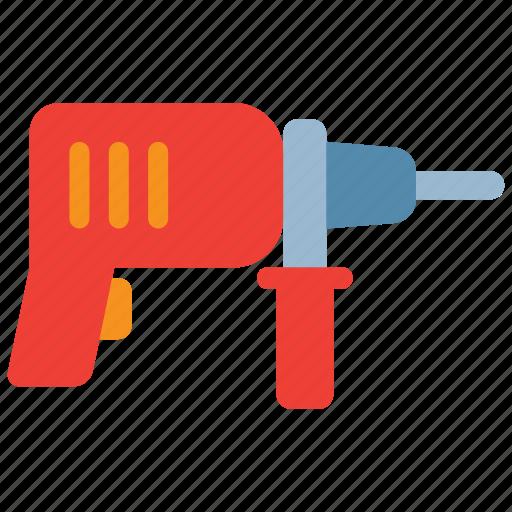 build, construction, drill, drilling, equipment, hand drill, repair icon