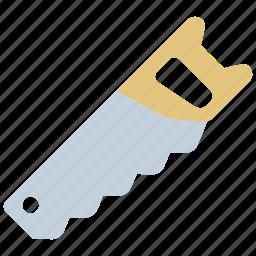 build, carpenter, equipment, handsaw, repair, saw, tools icon