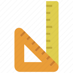 design, draw, education, equipment, ruler, tool, triangle icon