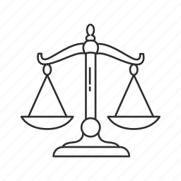 justice, lawyer, scale, weighing scale icon