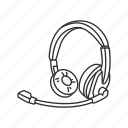 call, customer service, headphones with mic, headset icon