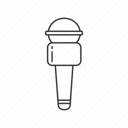 box microphone, broadcasting, journalist, microphone icon