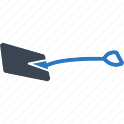 construction, shovel icon