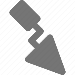 tools, trowel icon