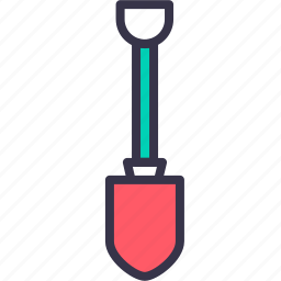 agriculture, construction, dig, gardening, job, shovel, tool icon
