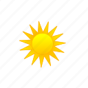 daytime, full sun, sun, sunny, sunshine icon