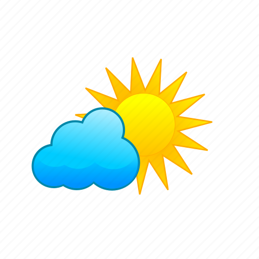 clouds, cloudy, daytime, partly, shine, sun, weather icon