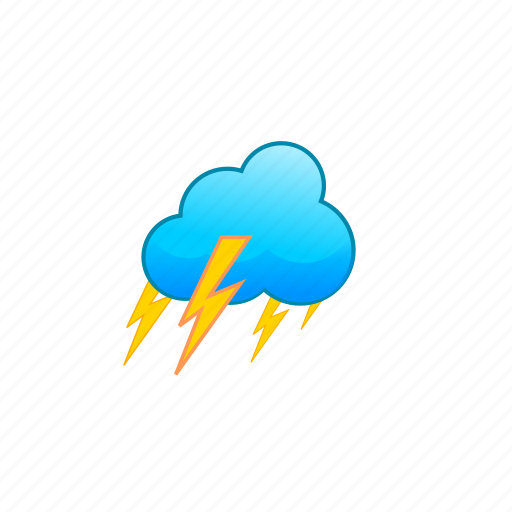 bad, cloud, clouds, thunder, thunderclouds, weather icon