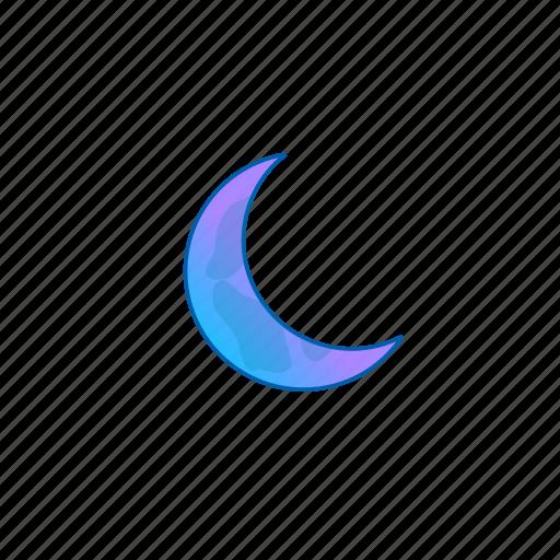 cresent, dark, moon, night, weather icon