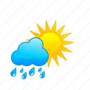 rain, rainorshine, rainy, showers, sun, sunny, weather icon