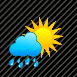 rain, rainorshine, rainy, showers, sun, sunny, weather icon