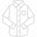 apparel, classic, clothes, long, shirt, sleeve, top icon