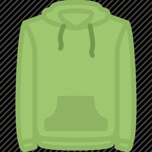 apparel, clothes, hoodie, top icon