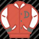 bomber, clothes, jacket, univeristy icon