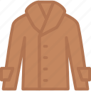apparel, clothes, coat, jacket, leather, top icon