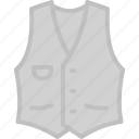 apparel, clothes, jacket, top, vest icon