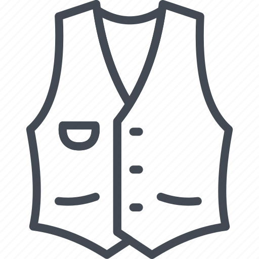 clothes, line, outline, vest icon