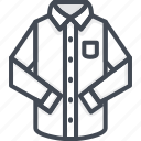 classic, clothes, filled, long, outline, shirt, sleeve icon
