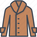 clothes, coat, filled, leather, outline icon
