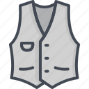 apparel, classic, clothes, filled, jacket, outline, vest icon