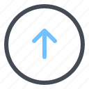 arrow, circle, up icon