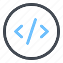 code, develop, jenkins, source icon