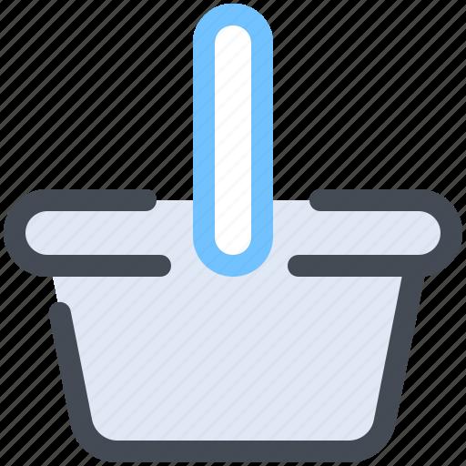 basket, cart, ecommerce, push, shopping icon