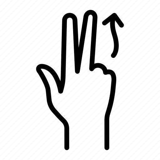 click, finger, flick, gesture, hand, touch, up icon
