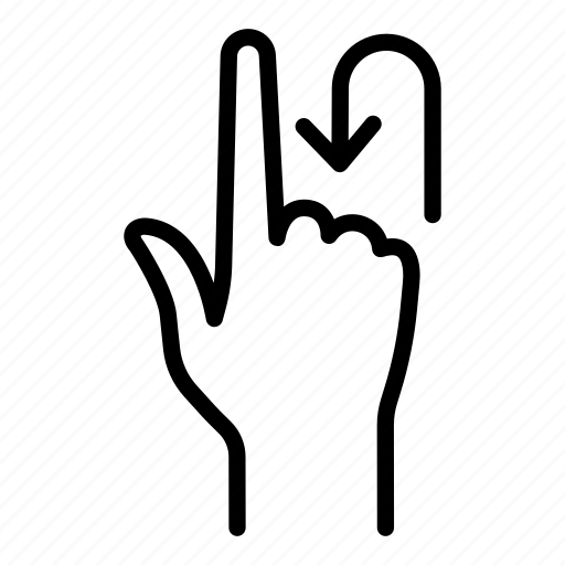 click, finger, fingers, gesture, hand, rotate, touch icon
