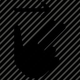 arrows, direction, move, right, swipe icon