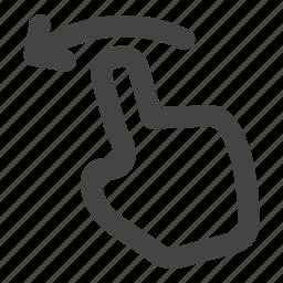 drag, finger, gesture, gestures, hand, swipe, tap icon