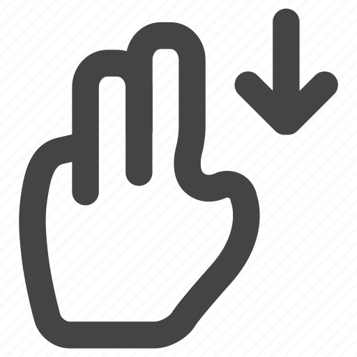 down, fingers, gesture, gestures, hand, touch, up icon