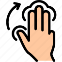 finger, tap icon