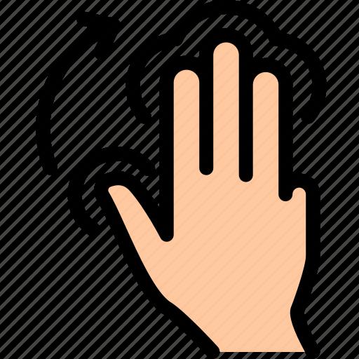finger, tap icon