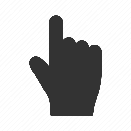 choose, hand, index finger, mobile gesture, point, pointer, select icon
