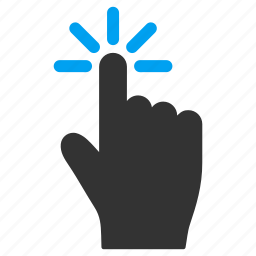 click, hand, index finger, mobile gesture, pointer, tap, touch gestures icon