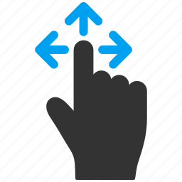 direction, finger, hand, mobile gesture, move, slide, touch gestures icon