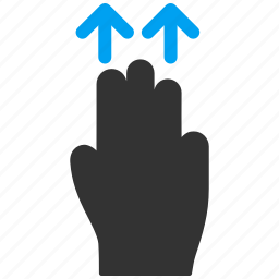 direction, hand, mobile gesture, move, shift, slide, up icon