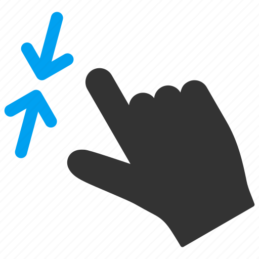hand, mobile gesture, reduce, resize, shrink, touch gestures icon