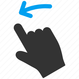 flick, hand, left, mobile gesture, slide, swipe, touch gestures icon