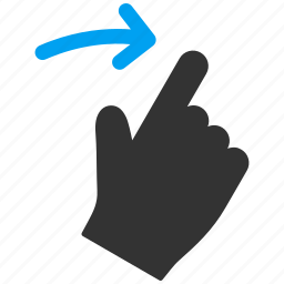 flick, hand, mobile gesture, right, slide, swipe, touch gestures icon