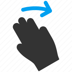 fingers, gesture, hand, right, slide, swipe, touch gestures icon