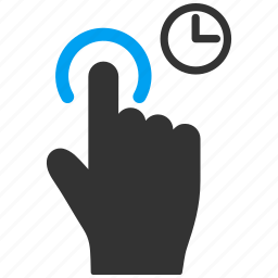 click, delay, finger, hand, mobile gesture, touch gestures, wait icon