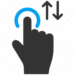 drag, finger, flick, hand, mobile gesture, touch gestures, up down icon